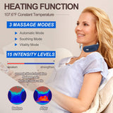 Smart Cordless Electric Pulse Heaated Neck Massager Pain Relief Relaxation