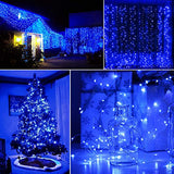 Solar Powered 100-LED Copper Wire Fairy Lights Christmas Decorations