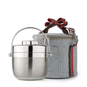 Bento Stainless Steel Insulated Thermal Insulation Lunch Box Container