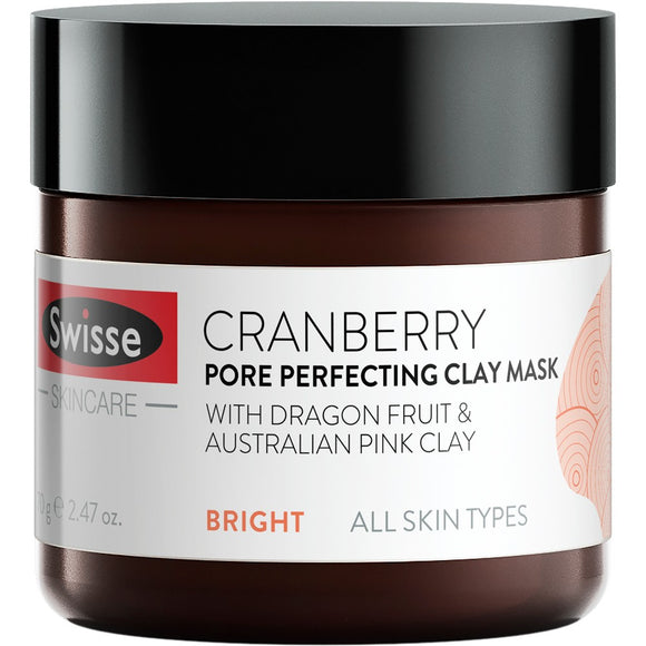Swisse SkinCare Cranberry Pore Perfecting Clay Mask 70g