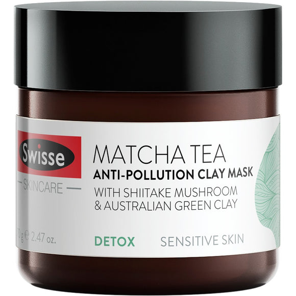 Swisse SkinCare Matcha Tea Anti-Pollution Clay Mask 70g