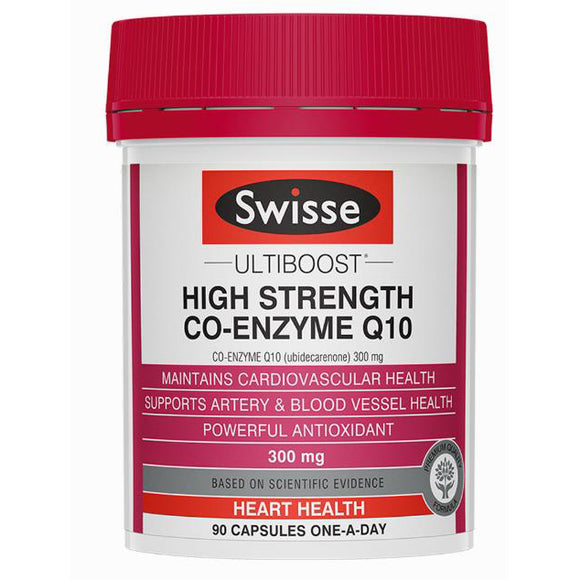 Swisse Ultibosst High Strength Co-Enzyme Q10 300mg 90 Capsules