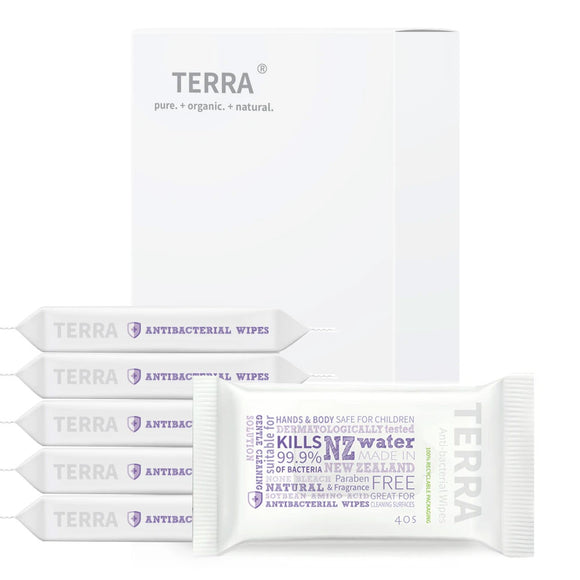 Terra Antibacterial Wet Wipes (40 Wipes)
