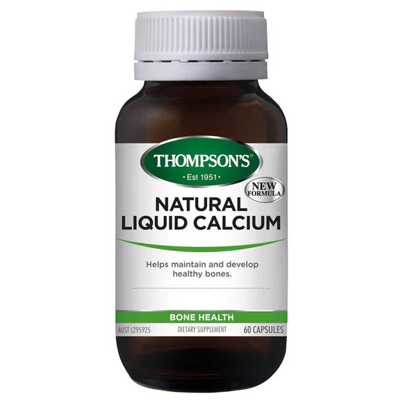 Thompson's Natural Liquid Calcium - 60 Capsules