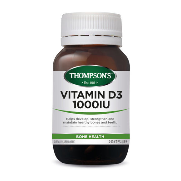 Thompson's Vitamin D3 1000IU  - 240 Capsules