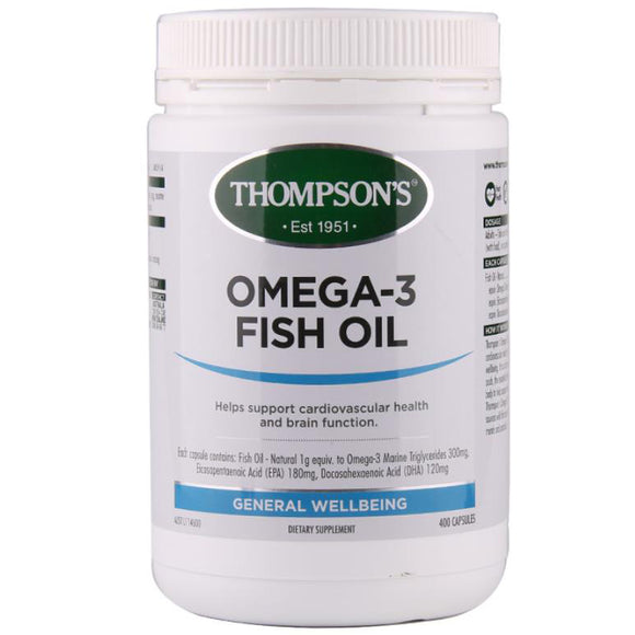 Thompson's Omega-3 Fish Oil 1000mg - 400 Capsules