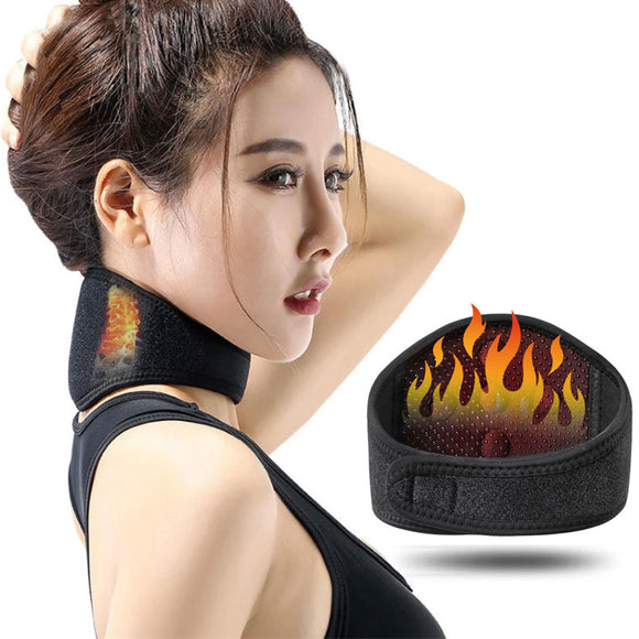 Tourmaline Magnetic Self-heating Pain Relief Neck Wrap Brace