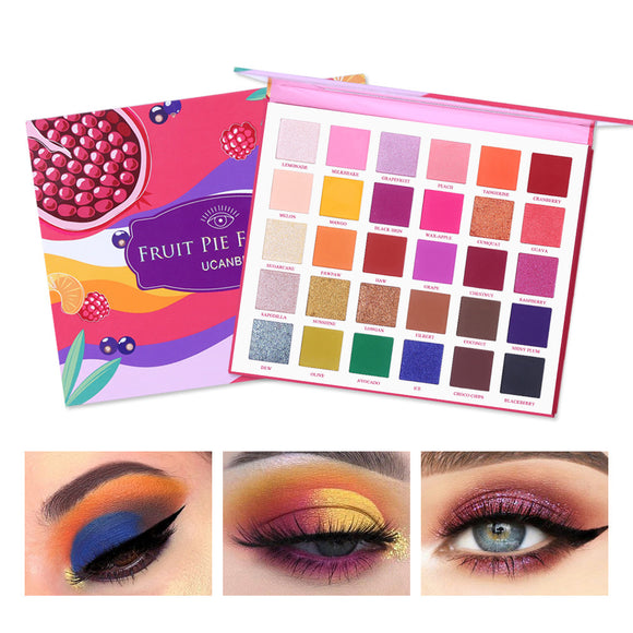 UCANBE Fruit Pie Filling 30 Colors Shimmer Matte Eyeshadow Palette