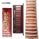 UCANBE Molten Rock Heat  12 Colors Nude Matte Eyeshadow Palette
