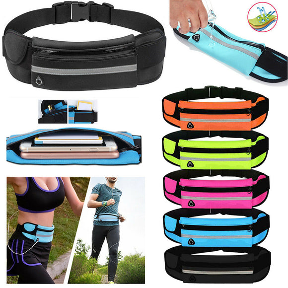 Unisex Sports Running Jogging Waist Travel Bum Bag