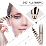 Upgraded Portable Electric Painless Eyebrow Hair Trimmer Remover