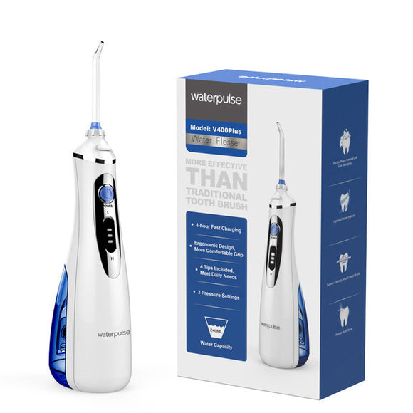 Waterpulse V400 Plus Portable Dental Water Jet Flosser Oral Irrigator Teeth Cleaner