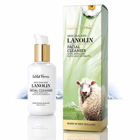 Parrs Wild Ferns Lanolin Facial Cleanser with Apple and Olive Leaf 140ml