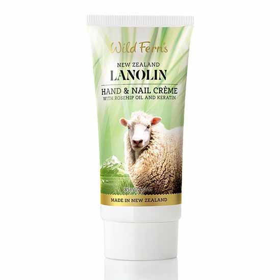 Parrs Wild Ferns Lanolin Hand and Nail Creme with Rosehip Oil and Keratin 85ml