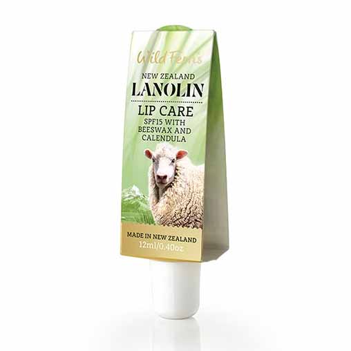 Parrs Wild Ferns Lanolin Lip Care SPF15 with Beeswax and Calendula 12ml