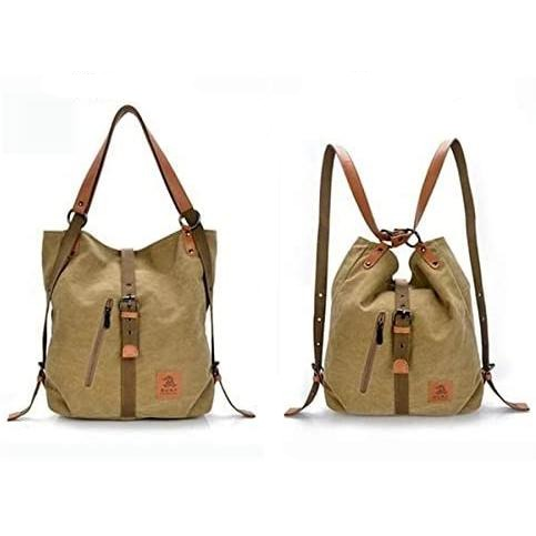 Women Canvas Tote Bag Handbags Convertible Backpack