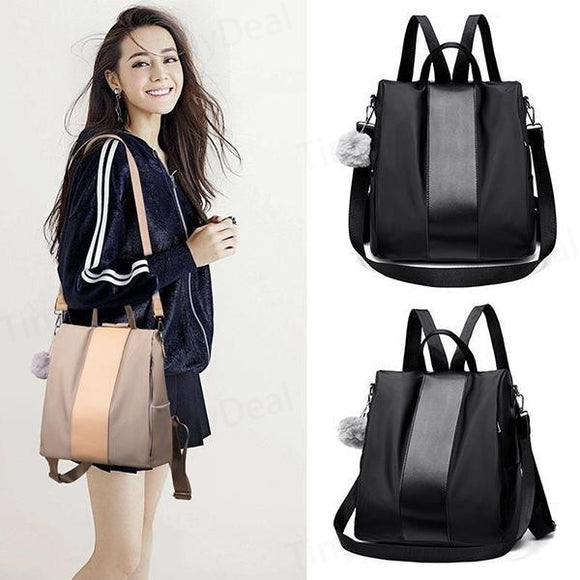 Women Fashion Anti-theft Waterproof Nylon Backpack