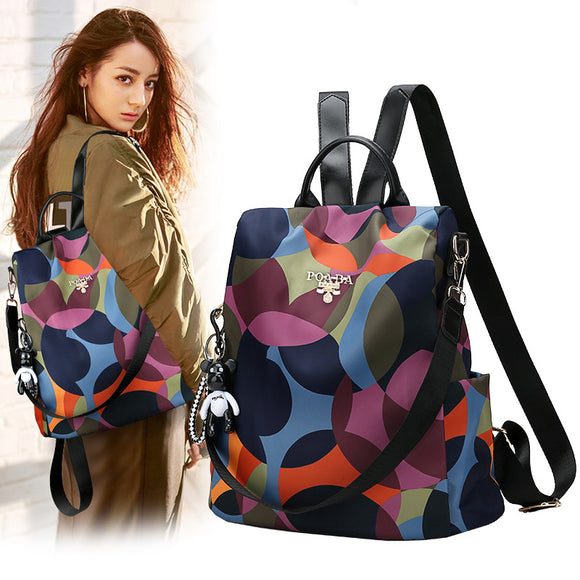 Women Fashion Anti-theft Waterproof Oxford Multifuction Backpack