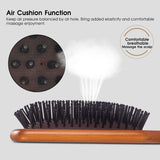 Wooden Paddle Hair Brush Comb for Straight Curly Wavy Hair