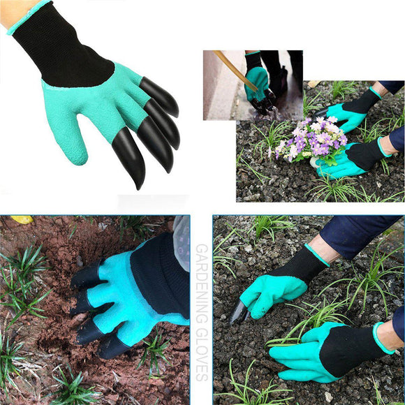 Waterproof Gardening Digging Gloves Fingertips Claw