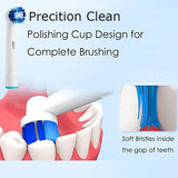 20pcs Compatible Replacement Toothbrush Heads Refill for Oral-B Electric