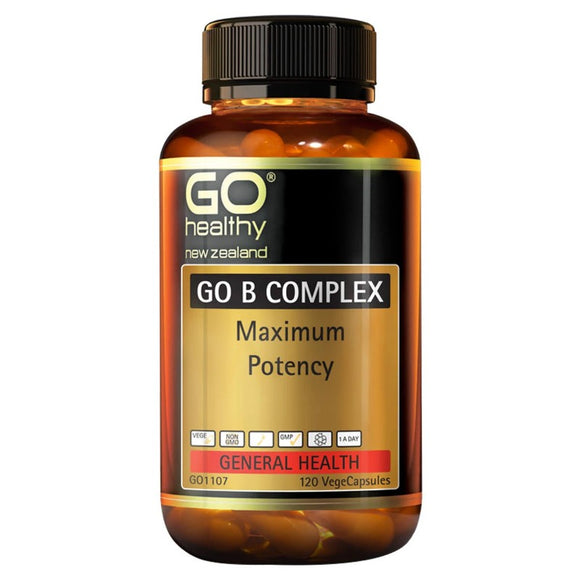 Go Healthy Go B Complex - Maximum Potency 120 Vegecaps