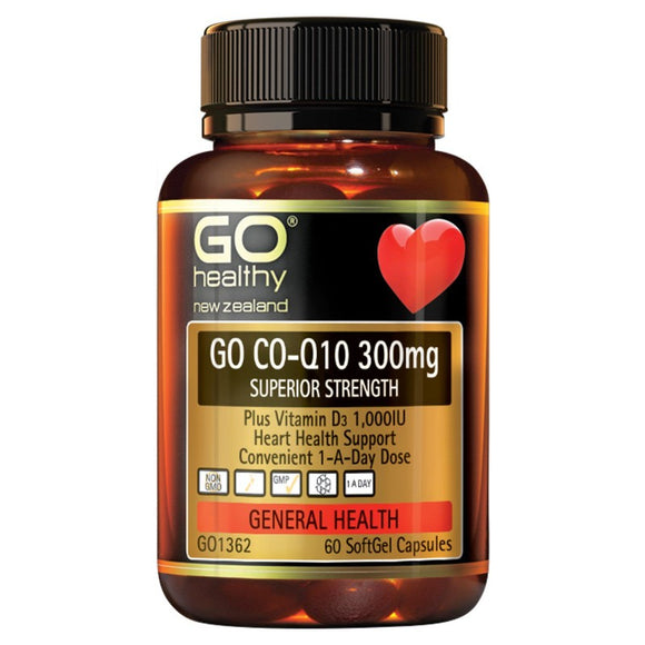 GO Healthy Go CoQ10 300mg - Superior Strength 60 Sofgels