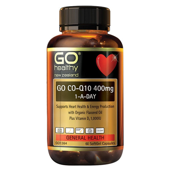 GO Healthy Go Co Q10 400mg One-A-Day 60 Sofgels