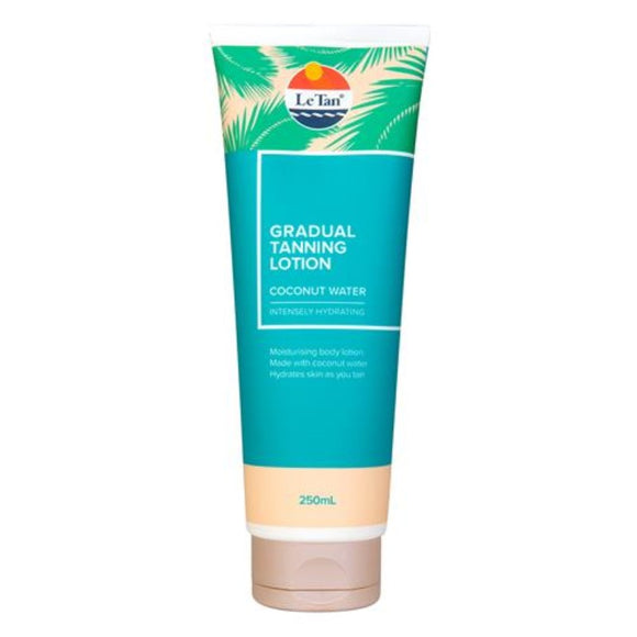 Le Tan Coconut Water Gradual Tanning Lotion 250mL