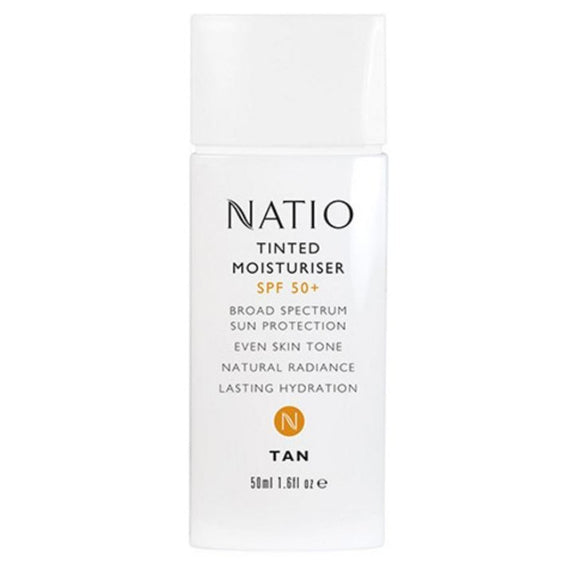 Natio Tinted Moisturiser SPF50+ & Even Skin Tone - 50mL