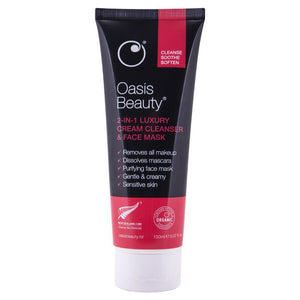 Oasis Beauty 2-in-1 Luxury Cream Cleanser & Face Mask