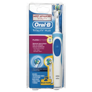 Oral-B Vitality Plus Floss Action Rechargeable Electric Toothbrush with 2 Brush Heads