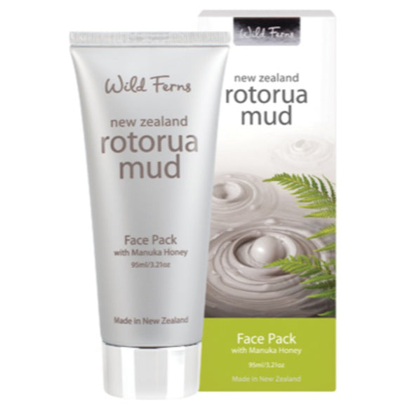 Parrs Wild Ferns Rotorua Mud Face Pack with Manuka Honey 95mL