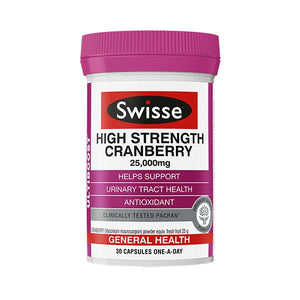 Swisse Ultiboost High Strength Cranberry 25,000mg - 30 Capsules