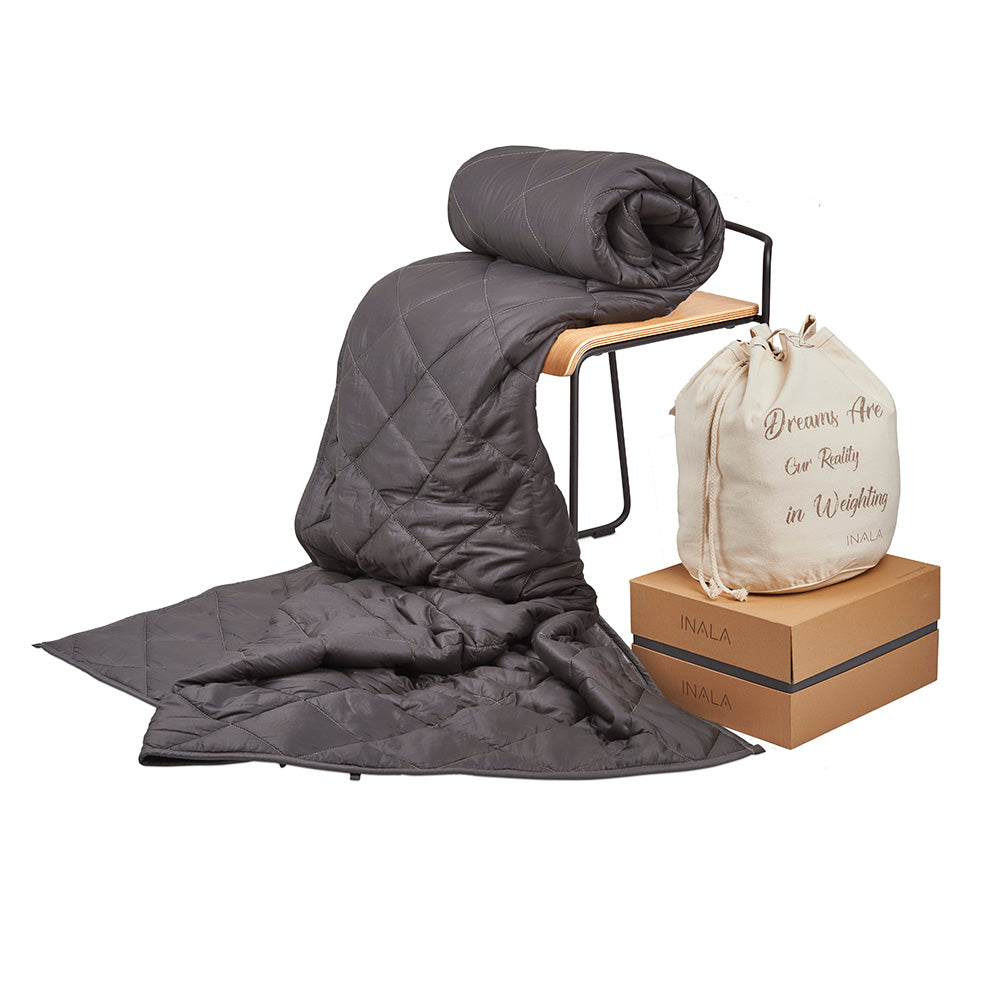 Inala Weighted Blanket - 15lb Dark Grey