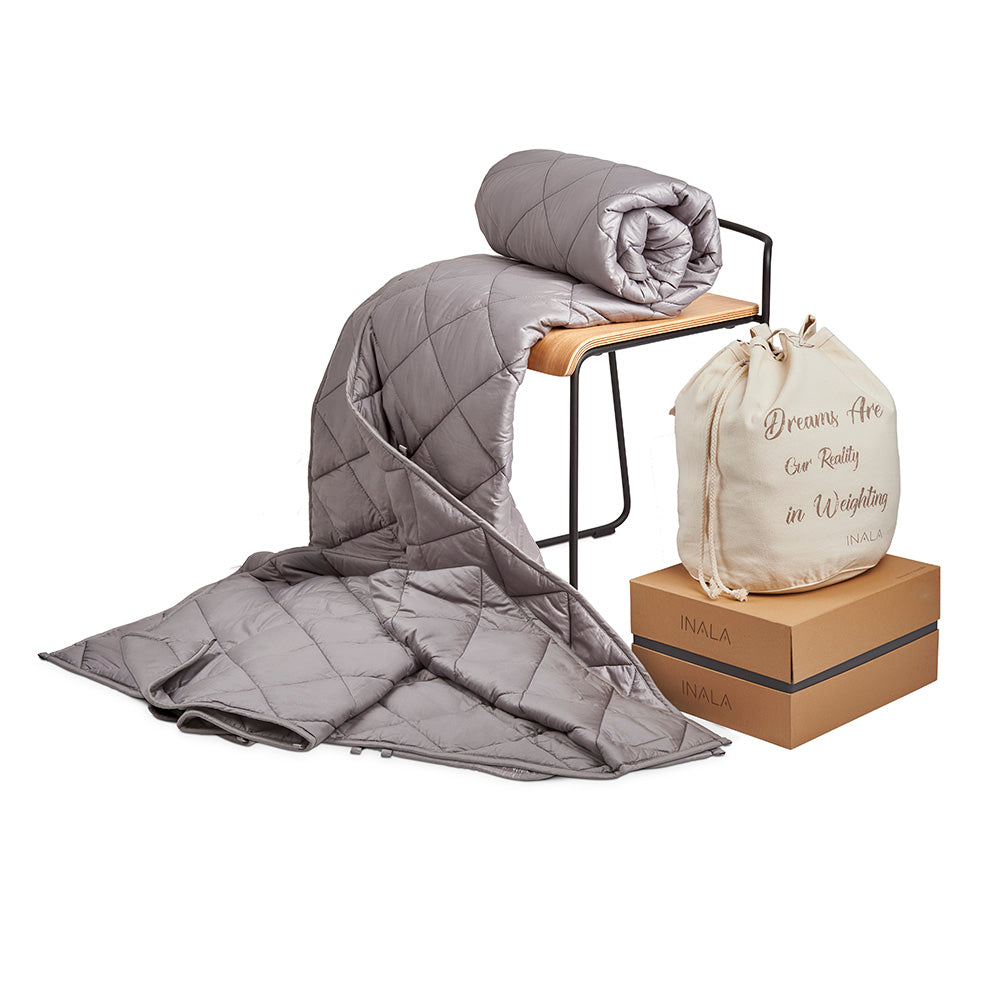 Inala Weighted Blanket - 15lb Light Grey