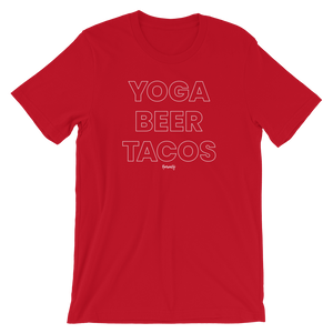 Yoga. Beer. Tacos. T-Shirt