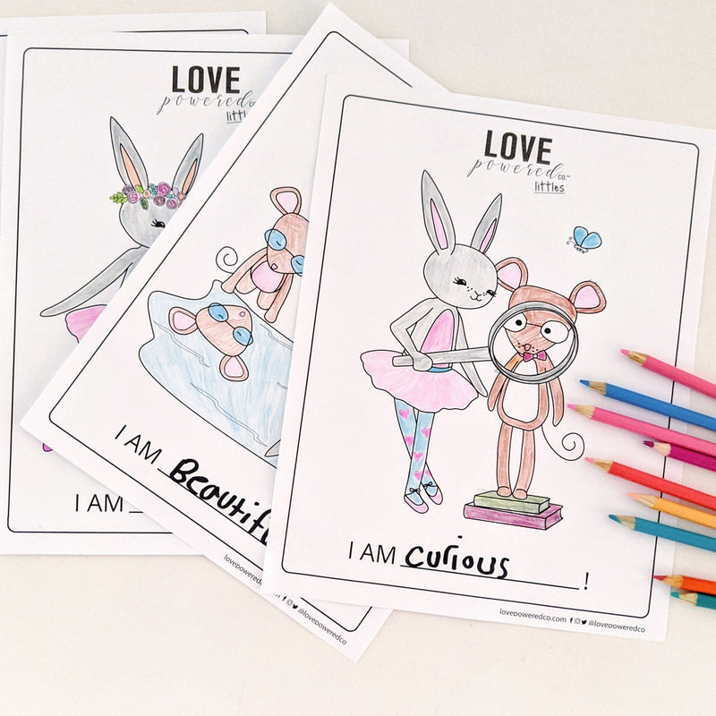Love Powered Littles - Affirmation Colouring Book (Digital)