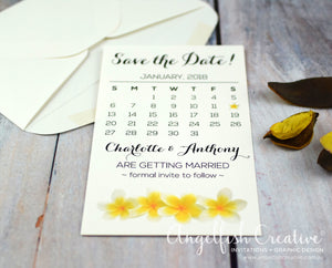 Frangipani Save the Date
