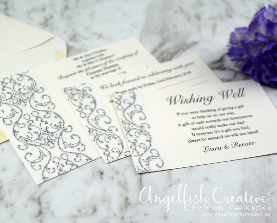 Glitter Swirl Invite Set