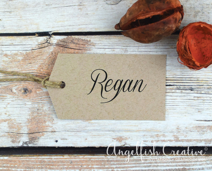 Rustic Tag Placecard
