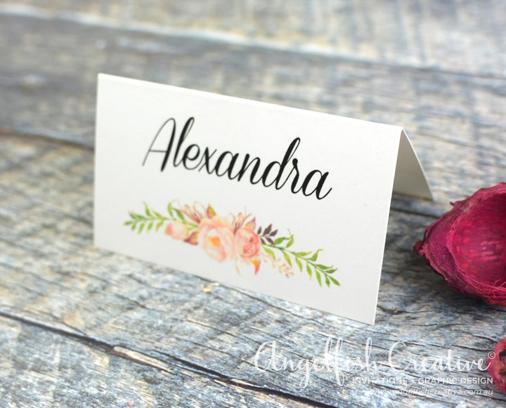 Rustic Rose Placecard