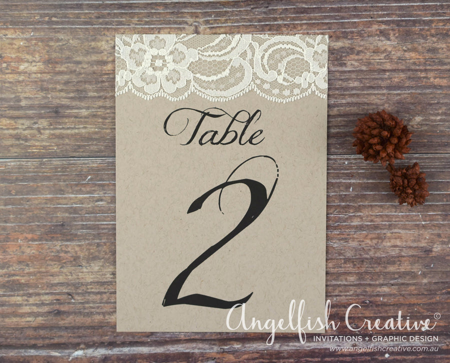 Lace Table Number