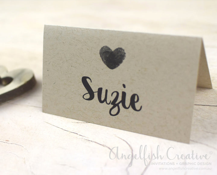Thumbprint Placecard