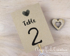 Thumbprint Table Number
