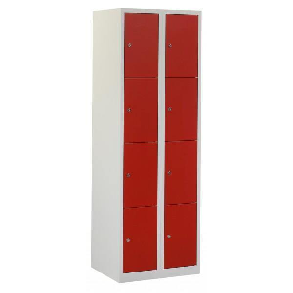 Lockerkast 2 kolommen 8 vakken freeshipping - Tom Kantoor & Projectinrichting