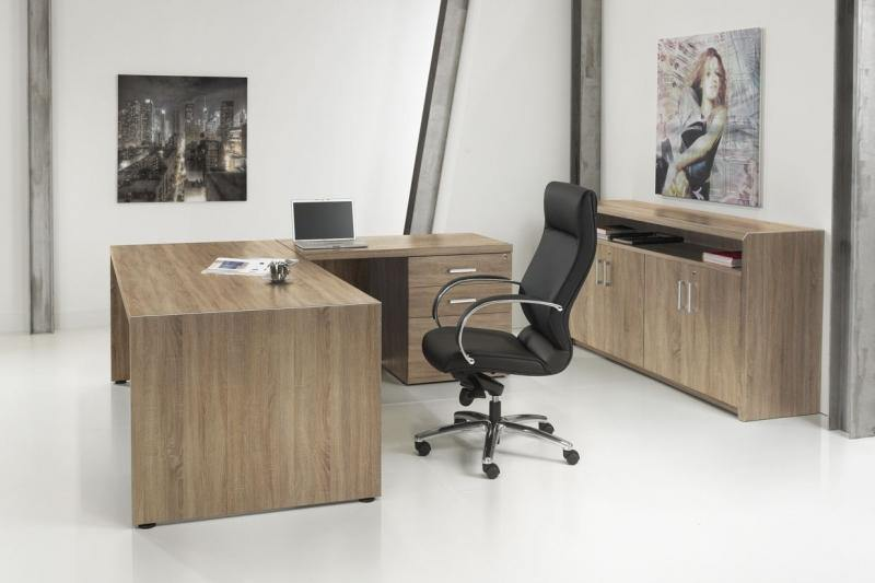 L-bureau Manage-It 210X210cm + Ladeblok