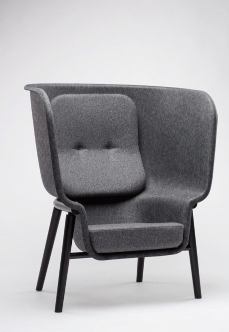 Pod PET Felt Privacy Chair freeshipping - Tom Kantoor & Projectinrichting