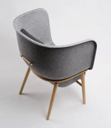 Pod PET Felt Privacy Chair - Tom Kantoor & Projectinrichting