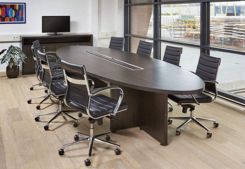 Manage-It ovale tafel 420x138cm freeshipping - Tom Kantoor & Projectinrichting